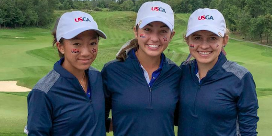 Team USA's Zoe Campos, Michaela Morard and Brooke Seay <br>(USGA Photo)