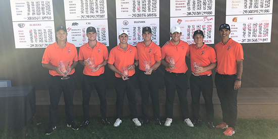 Oklahoma State's winning team (OSU Athletics photo)