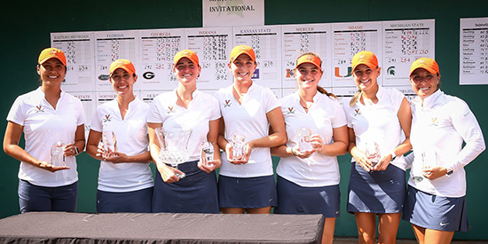 Virginia's Mary Fossum-winning squad (UVA Athletics photo)