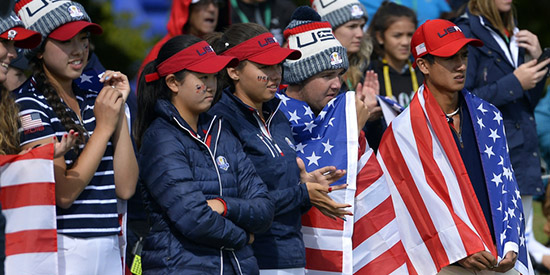 The U.S. took the lead on a chilly day in Paris (Jr Ryder Cup photo)