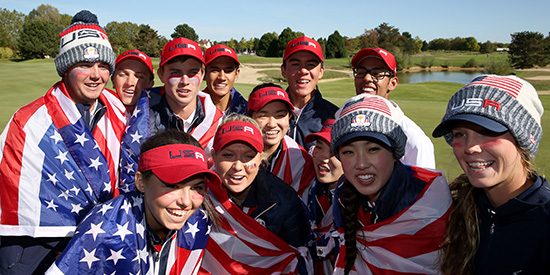The U.S. team at the Junior Ryder Cup (PGA of America photo)