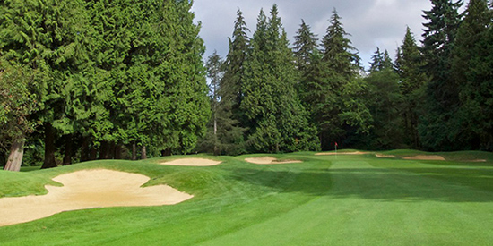 The 14th hole at Shaughnessy Golf and Country Club (PNGA photo)