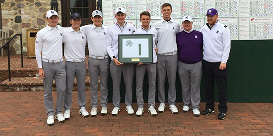 Northwestern's men (Northwestern/Twitter photo)