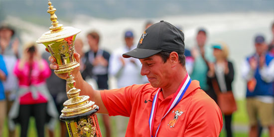 2018 U.S. Amateur champion Viktor Hovland<br>(USGA photo)