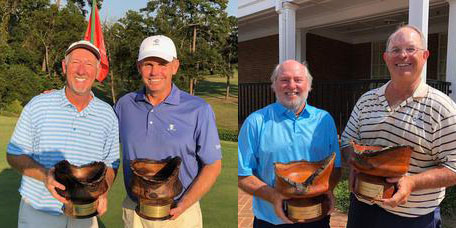 Allen Peake (L) and Rusty Strawn; Super Sr<br>champs Don Russell and Bill Blalock
