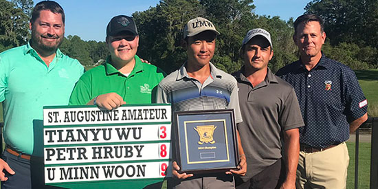 U Minn Woon (center), the 15th St. Augustine Amateur champion