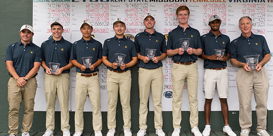 East Tennessee's winning squad (ETSU Athletics photo)