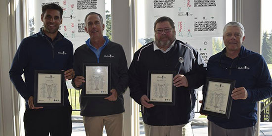 Hudson Cup team captains:<br>David Phay, John Bracken, John Seagner, Jr. , Kevin Bishop (PNWPGA photo)