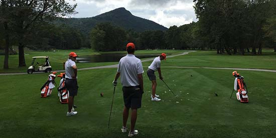 Clemson golfers (Clemson Athletics/Twitter photo)