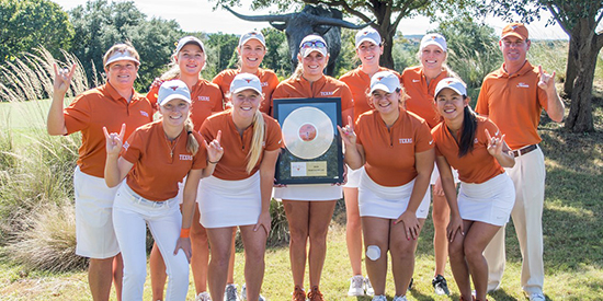 Texas women's golf (Texas Athletics photo)