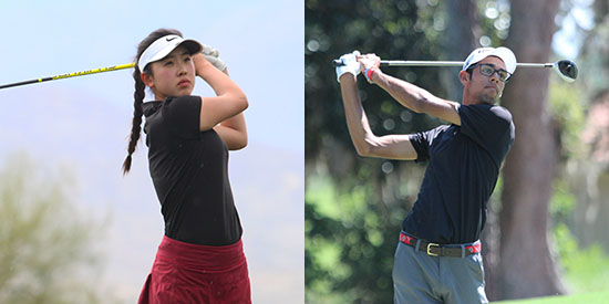 Yealimi Noh and Akshay Bhatia (AJGA photo)
