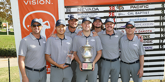 Nevada's winning team (Nevada Athletics photo)