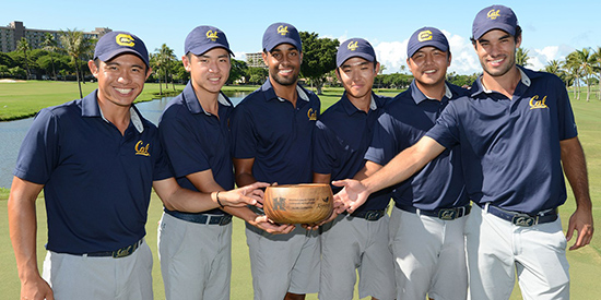 Cal's winning team (Cal Athletics photo)