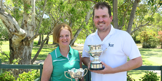 Louise Mullard and Dale Clarke (Golf Australia photo)