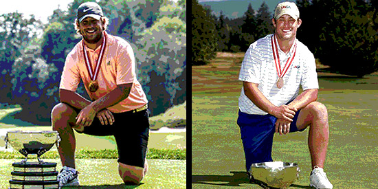Zach Bauchou after each of his Canadian Am victories (Photo illustration)