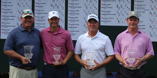 Dorman/Griffin (Championship) and Riviere/Cloninger (Seniors) (FSGA photo)