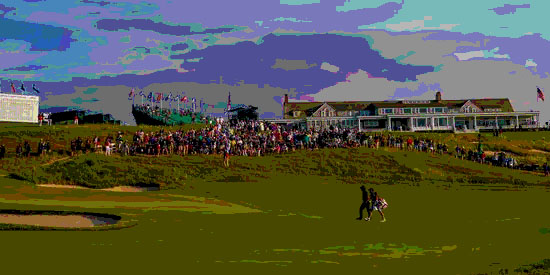 Matt Parziale at the U.S. Open (Photo illustration)