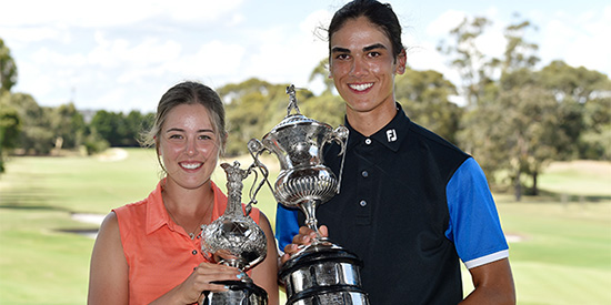 Maddison Hinson-Tolchard and Andre Lautee (Golf Australia photo)
