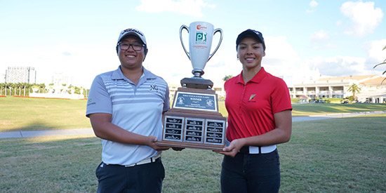 Matheus jung Park & Emilie Ricaud (First Tee Miami/Twitter photo)