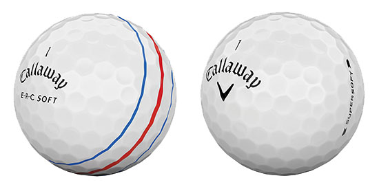 Callaway ERC Soft, Supersoft and Supersoft Magma Golf Balls