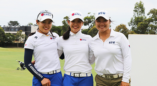 Sae Ogura, Yuri Yoshida, and Doey Choi (Golf Australia photo)