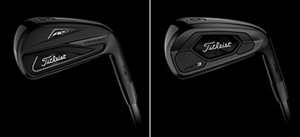 The Titleist all-black AP2 and AP# irons