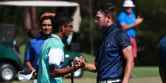 Kartik Sharma (left) and Nathan Barbieri (NSW Golf photo)