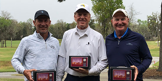 Douglas Schneider, Jimmy Jones Sr., Bobby Lundquist (FSGA photo)