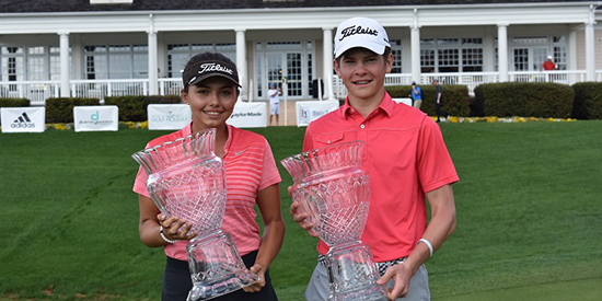 Defending champions Alexa Pano and Michael Brennan (Photo courtesy DJ World Junior)
