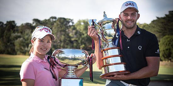 Yuna Nishimura and Christopher Crabtree (Golf Australia/Twitter photo)