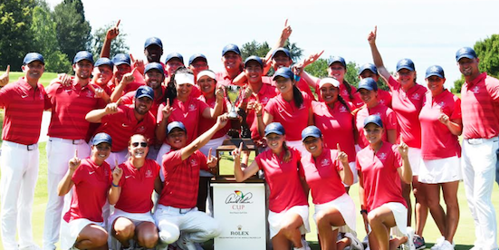 The U.S. won the 2018 matches, as female collegians were added (Palmer Cup photo)