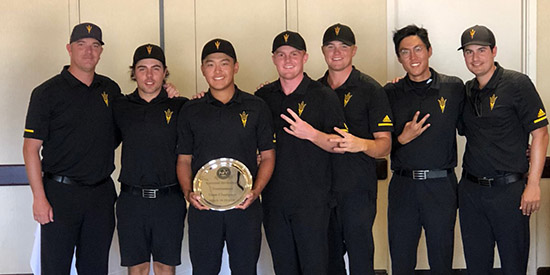 Sun Devil men's golf (ASU Athletics/Twitter photo)