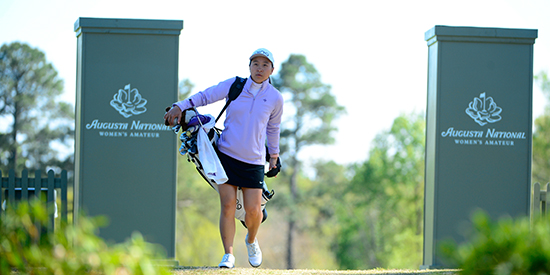 Alice Chen during an ANWA practice round (ANWA image)