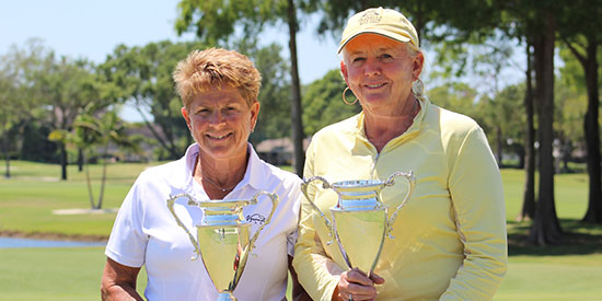 Lisa Schlesinger and Super Senior winner Janice Wilson (FSGA photo)