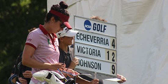 Pilar Echeverria during 2018 NCAA Championship (UIndy Athletics)