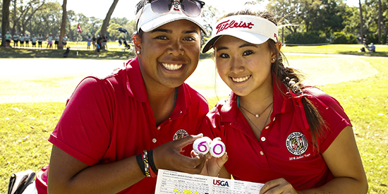 Aneka Seumanutafa and Faith Choi (USGA photo)