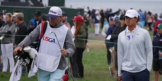 Brandon Wu (right) and his caddie (AGC photo)