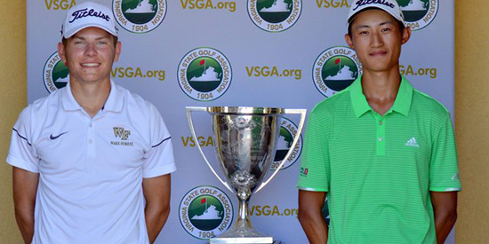 Michael Brennan and Christopher Zhang (VSGA photo)