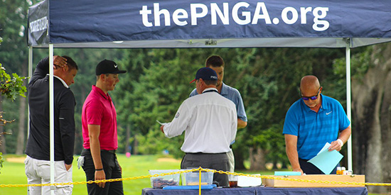 First-round play at the PNGA Amateur (PNGA/Twitter photo)