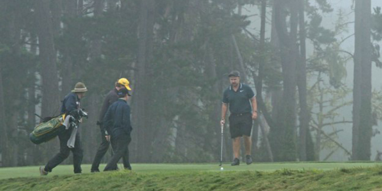 It was a foggy round at Poppy Hills on Saturday (NCGA photo)