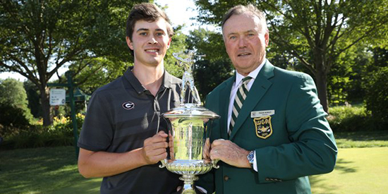 Stroke-play medalist Davis Thompson (Charles Cherney/Western Golf Association)