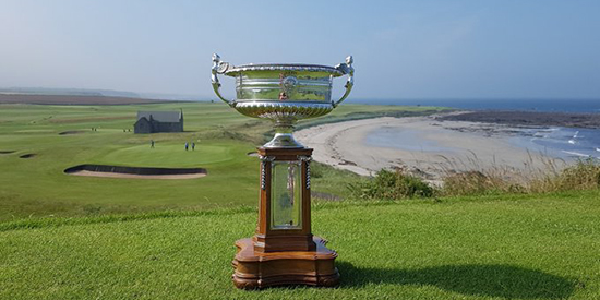 The Scottish Amateur trophy (Crail Golf/Twitter photo)