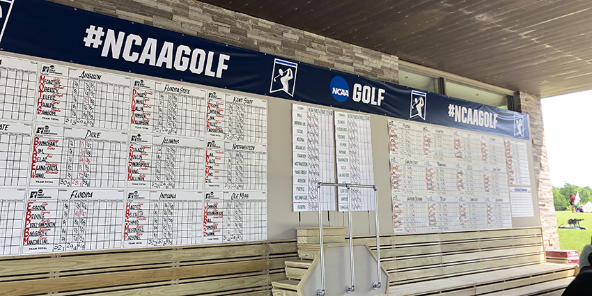 The 2019 NCAA Women's Championship leaderboard (AGC photo)