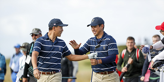 John Pak and Isaiah Salinda (USGA/Chris Keane)