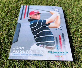 A John Augenstein trading card