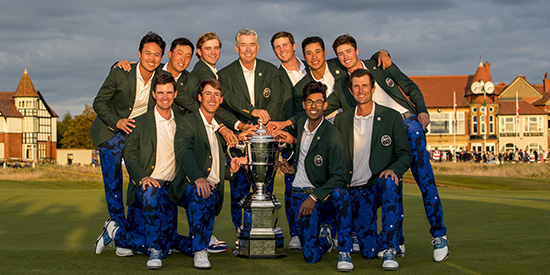 The winning U.S. Walker Cup team (USGA/Chris Keane)