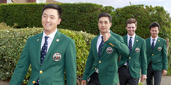 John Pak, Isaiah Salinda, Alex Smalley and Brandon Wu (USGA photo)