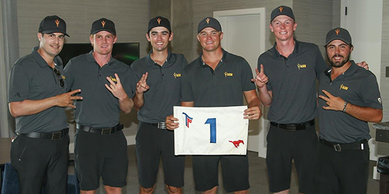 Arizona State's winning team (ASU Athletics/Twitter photo)