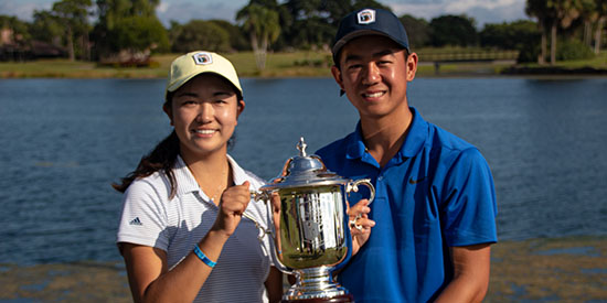Rose Zhang and Kelly Chinn (AJGA photo)