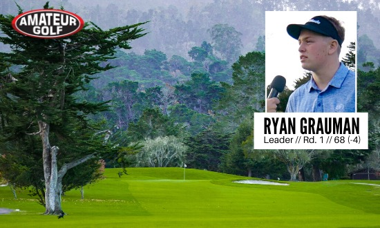 Ryan Grauman shot 4-under 68 today at Del Monte